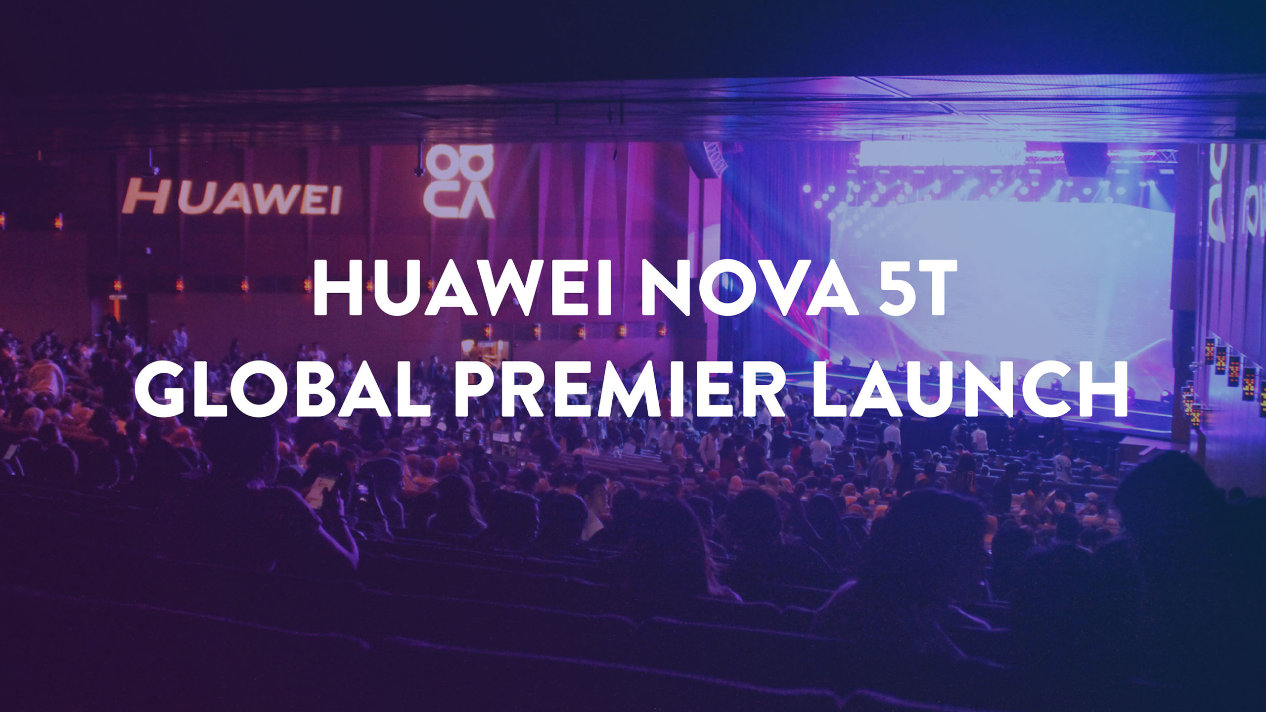 Huawei Nova 5t Global Premier Launch